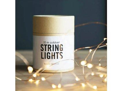 Měděný světelný řetěz String