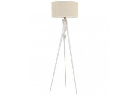 Stojací lampa LF 14, šedá/bílá