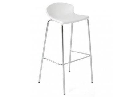 Bílá barová židle EASY 67