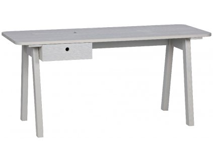 Šedý masivní pracovní stůl Werner 160 cm