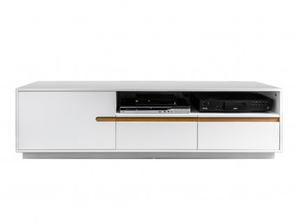 Bílý TV stolek Leros