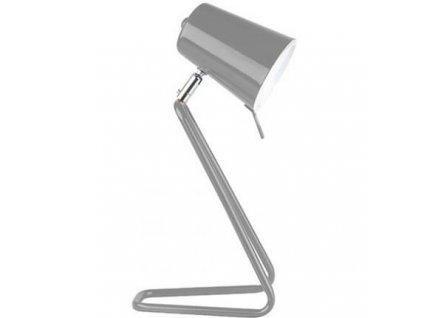 Šedá kovová stolní lampa Treu