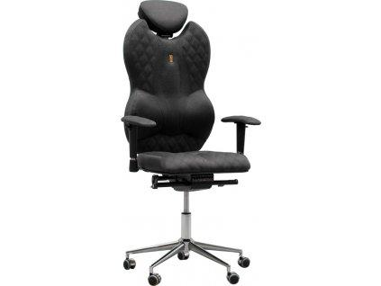 Antracitová látková kancelářská židle Grand