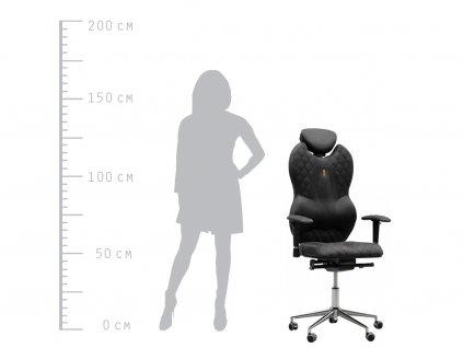 Kancelářská židle Grand, antracitová