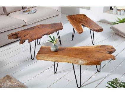 Masivní konferenční stolek Randy 100x40 cm