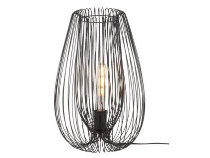 Černá kovová stolní lampa Divine