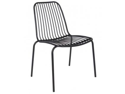 Černá kovová židle Liner