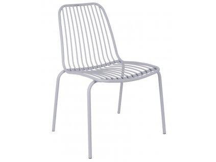 Šedá kovová židle Liner
