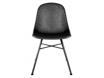 Černá plastová jídelní židle Dylan