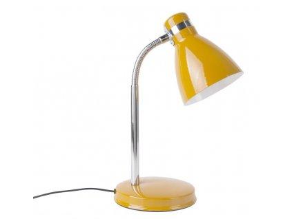Žlutá stolní kovová lampa Waroni