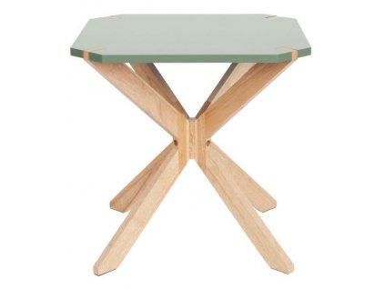 Zelený dřevěný konferenční stolek Rudy