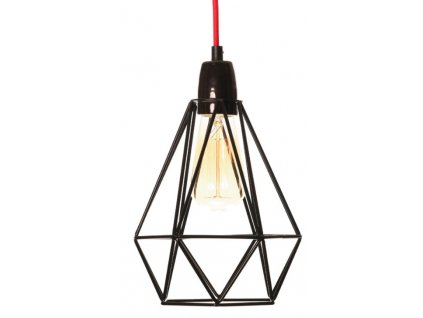 Závěsné světlo Diamond 1, černá/černá