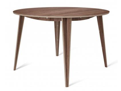 Ořechový kulatý jídelní stůl Tabanda ROUND MACIEK 120 cm
