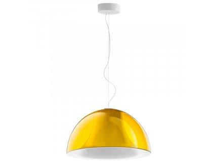 Závěsné světlo Pedrali L002S/BA, 52 cm, transparentní žlutá