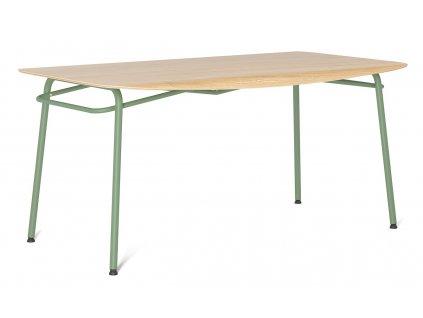 Mintový dubový jídelní stůl Tabanda Troj 160x80 cm
