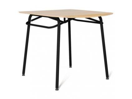 Jídelní stůl Tabanda Troj 80x80 cm, černá