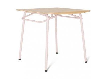 Jídelní stůl Tabanda Troj 80x80 cm, růžová