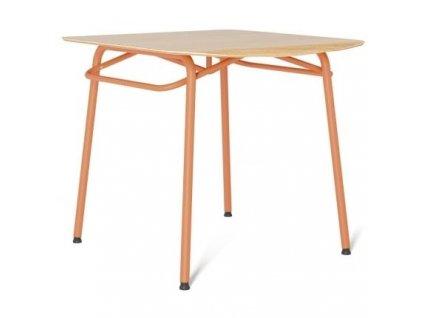 Jídelní stůl Tabanda Troj 80x80 cm, oranžová
