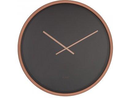 Nástěnné hodiny ZUIVER BANDIT minimalistické  měděná černá