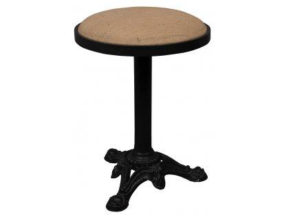 Světle hnědá stolička DUTCHBONE MEZZA, přírodní materiál, kovová černá podnož