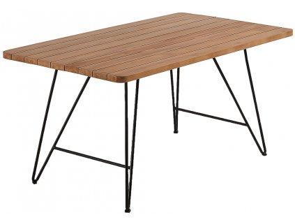 Teakový jídelní stůl LaForma Komme 160x90 cm s kovovou podnoží
