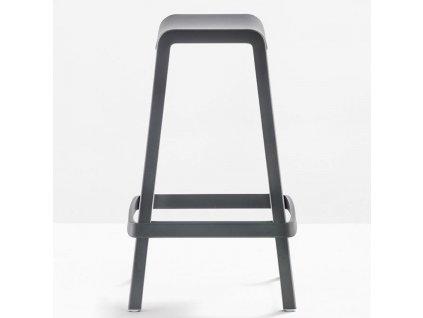 Šedá plastová barová stolička Dome 267 65 cm