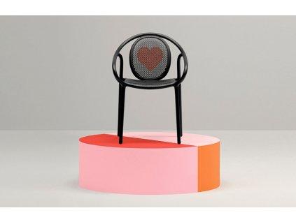 Černá plastová jídelní židle Remind 3735