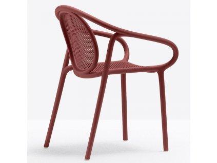 Červená plastová jídelní židle Remind 3735