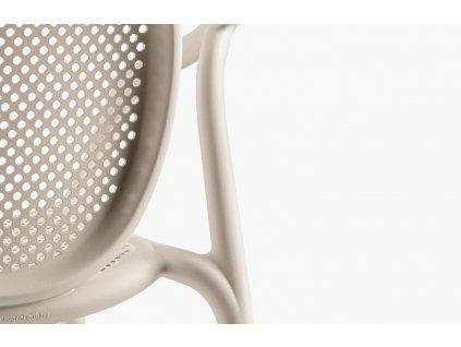 Krémová plastová jídelní židle Remind 3735