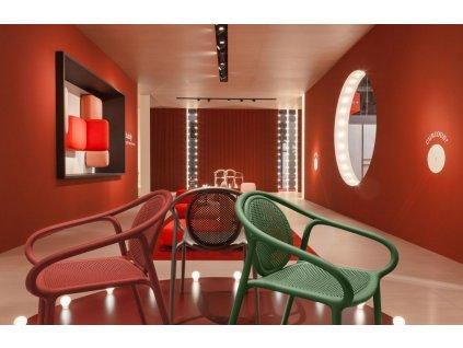 Zelená plastová jídelní židle Remind 3735