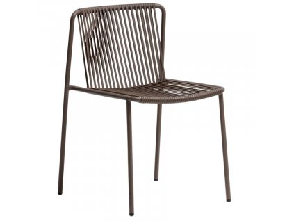 Tmavě hnědá kovová zahradní židle Tribeca 3660