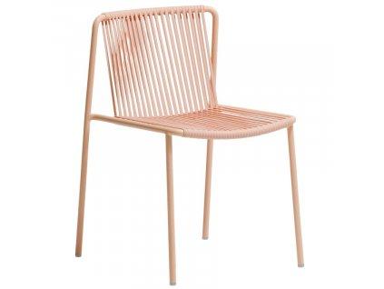 Růžová kovová zahradní židle Tribeca 3660