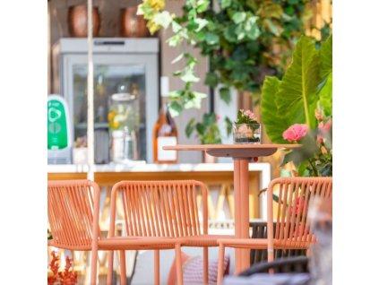 Růžová kovová barová židle Tribeca 3668