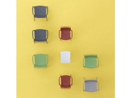 Tmavě šedá plastová jídelní židle Ara 310