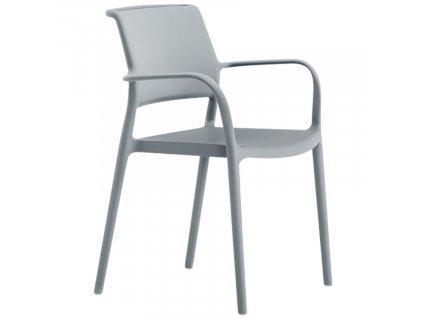 Šedá plastová židle Ara 315
