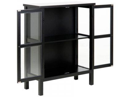 Černá dřevěná vitrína Marion 99 cm