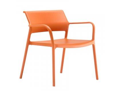 Oranžové plastové křeslo Ara 316