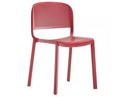 Červená plastová zahradní židle Dome 261