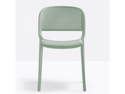 Zelená plastová zahradní židle Dome 261
