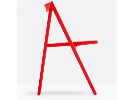Červená plastová skládací židle Enjoy 460