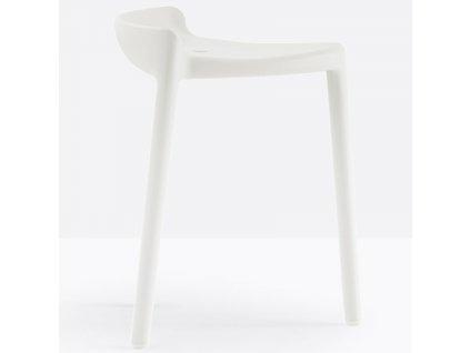 Bílá plastová židlička Happy 491