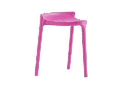 Fialová plastová židlička Happy 491