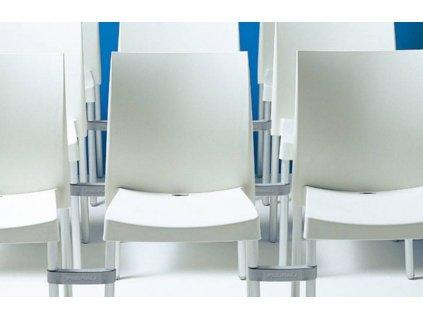Krémová plastová jídelní židle Ice 800