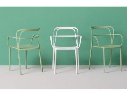 Šedá kovová židle Intrigo 3715
