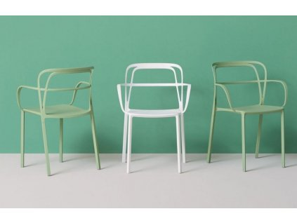 Bílá kovová židle Intrigo 3715
