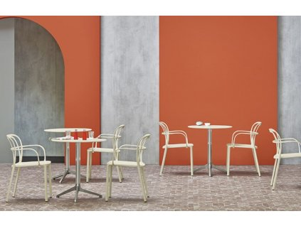 Tmavě šedá kovová židle Intrigo 3715