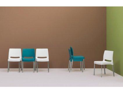 Bílá plastová židle Joi 870