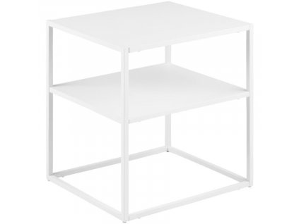 Bílý kovový odkládací stolek Renna 45 x 40 cm