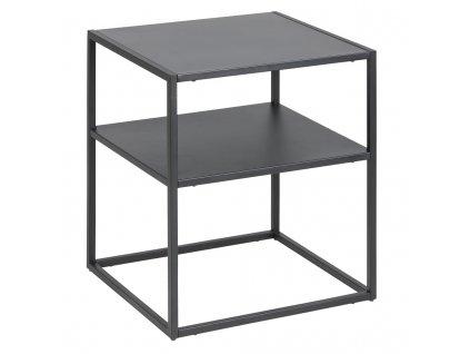 Černý noční stolek Renna, lakovaný kov