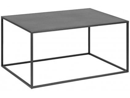 Černý kovový konferenční stolek Renna, lakovaný kov
